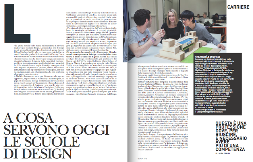 A cosa serve oggi studiare design sylvie renault art for Studiare design a milano