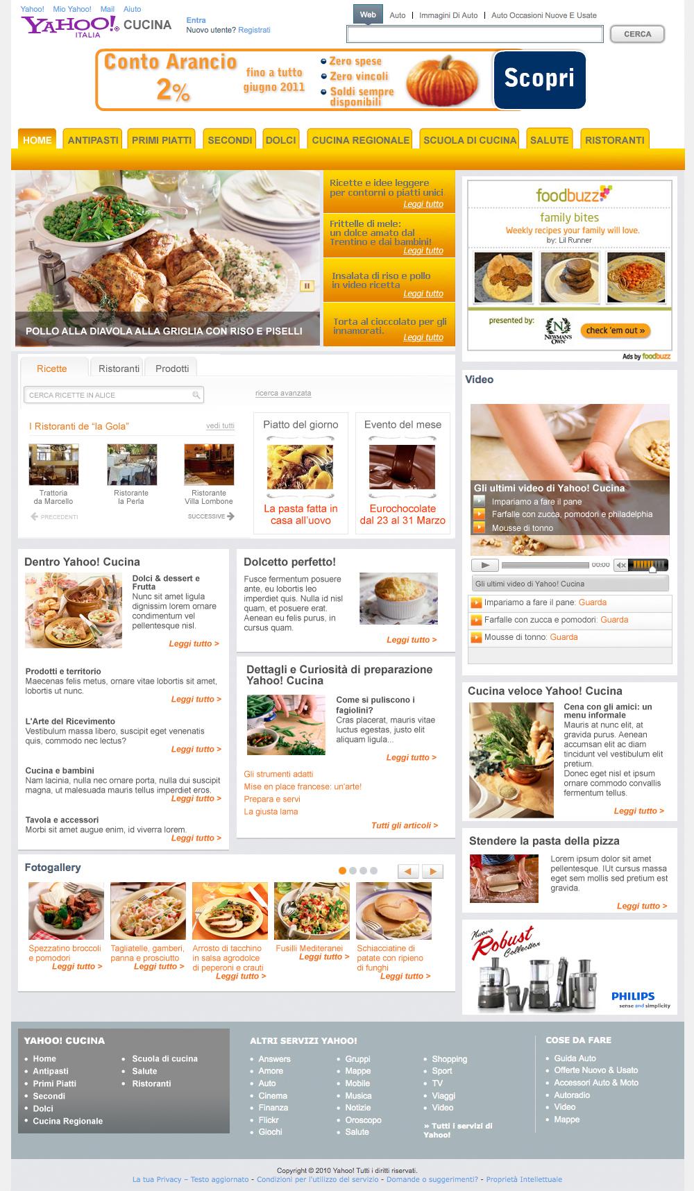 yahooCucina_homepage